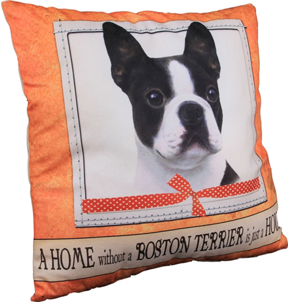 Boston Terrier Pillow 16x16 Polyester