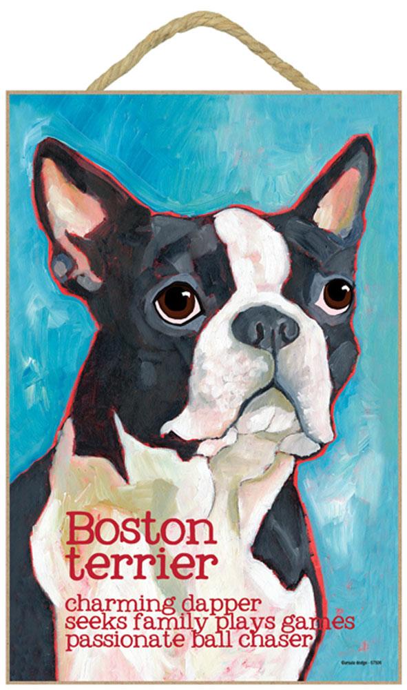 Boston Terrier Characteristics Indoor Sign