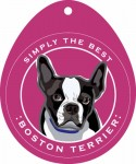 Boston Terrier Sticker 4x4""