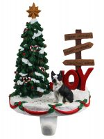 Boston Terrier Stocking Holder Hanger