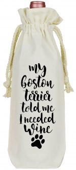 Boston Terrier Wine Bag