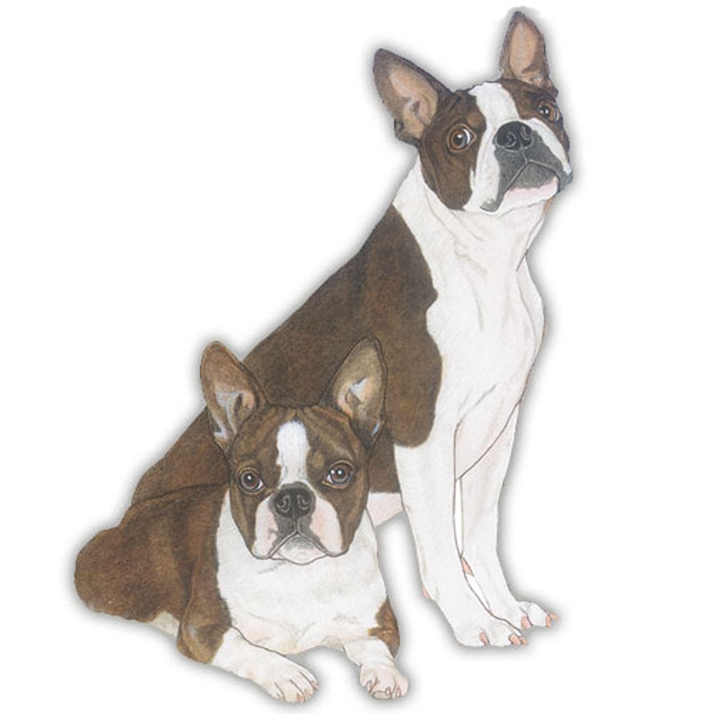 Boston Terrier Wooden Magnet