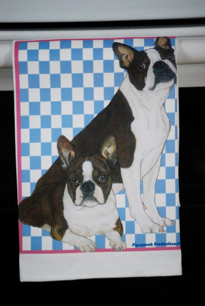 Boston Terrier Kitchen Hand Towel 2