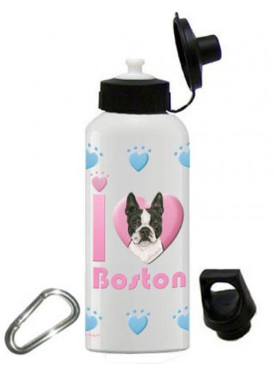 Boston Terrier Water Bottle Stainless Steel 20 oz 1