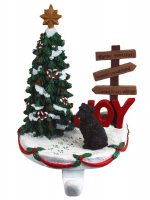Bouvier Stocking Holder Hanger Uncropped