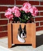 Boxer Planter Flower Pot Brindle