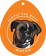 "Boxer Sticker 4x4"" Brindle Uncropped"