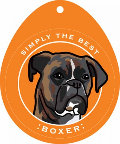 Boxer Sticker 4×4″ Brindle Uncropped 1