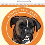 Boxer Car Magnet 4×4″ Brindle Uncropped 1