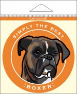 "Boxer Car Magnet 4x4"" Brindle Uncropped"
