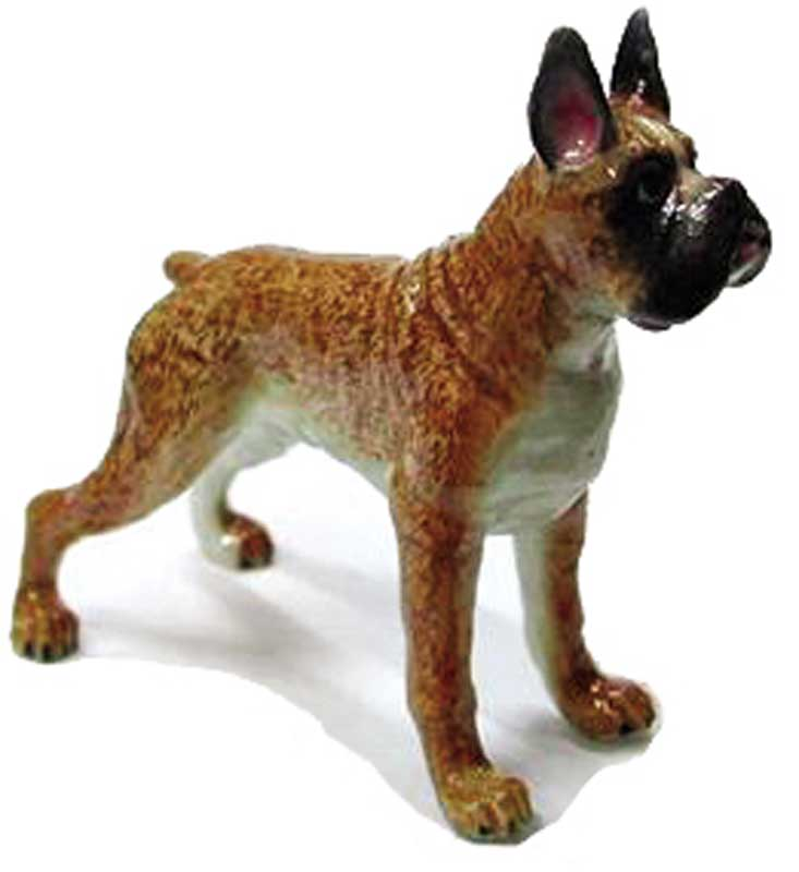 Boxer Hand Painted Porcelain Figurine