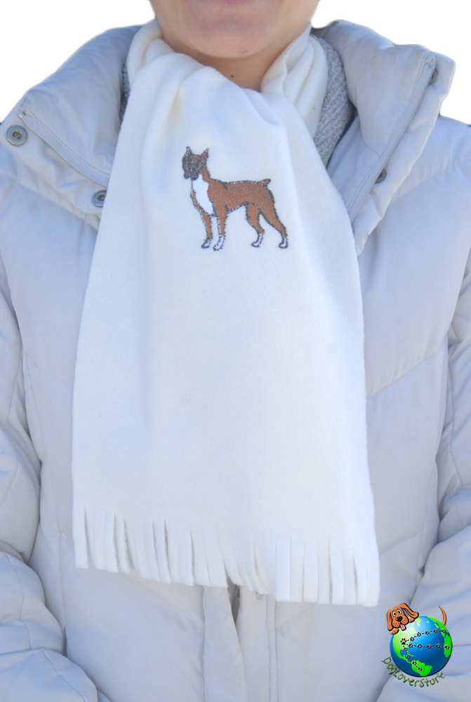 Boxer Scarf Cream Fleece