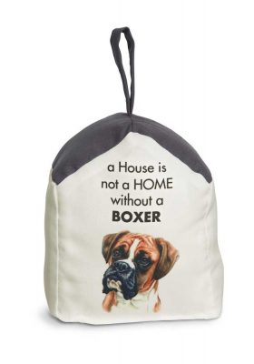 Boxer Door Stopper 5 X 6 In. 2 lbs. - A House is Not a Home