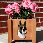 Boxer Planter Flower Pot Fawn 1