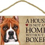 Boxer Wood Dog Sign Wall Plaque Photo Display 5 x 10 + Bonus Coaster 1