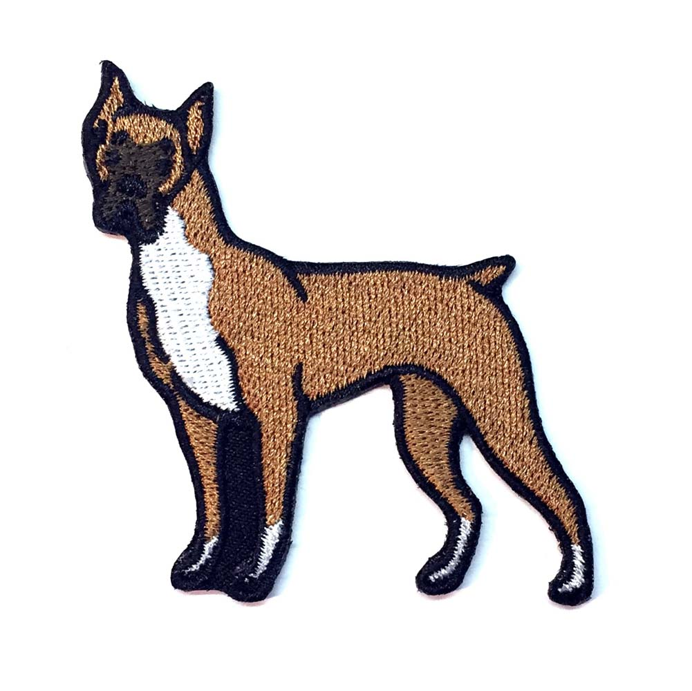 Boxer Iron on Embroidered Patch
