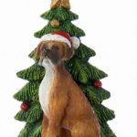 Boxer Christmas Tree Ornament 1