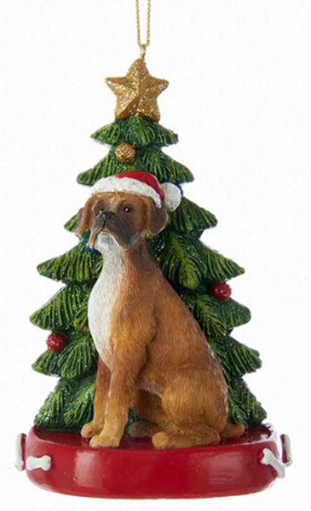 Boxer Christmas Tree Ornament