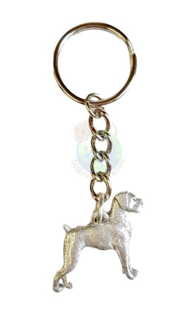 Boxer Pewter Keychain Uncropped