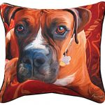 Boxer Artistic Throw Pillow 18X18″ 1