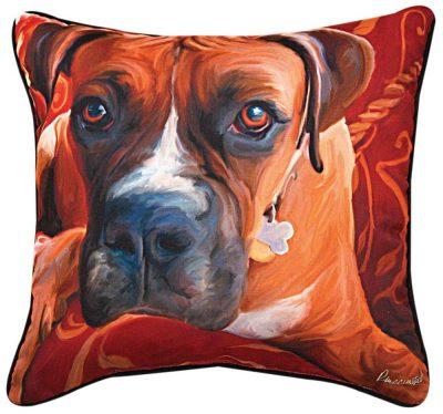 """Boxer Artistic Throw Pillow 18X18"""""""