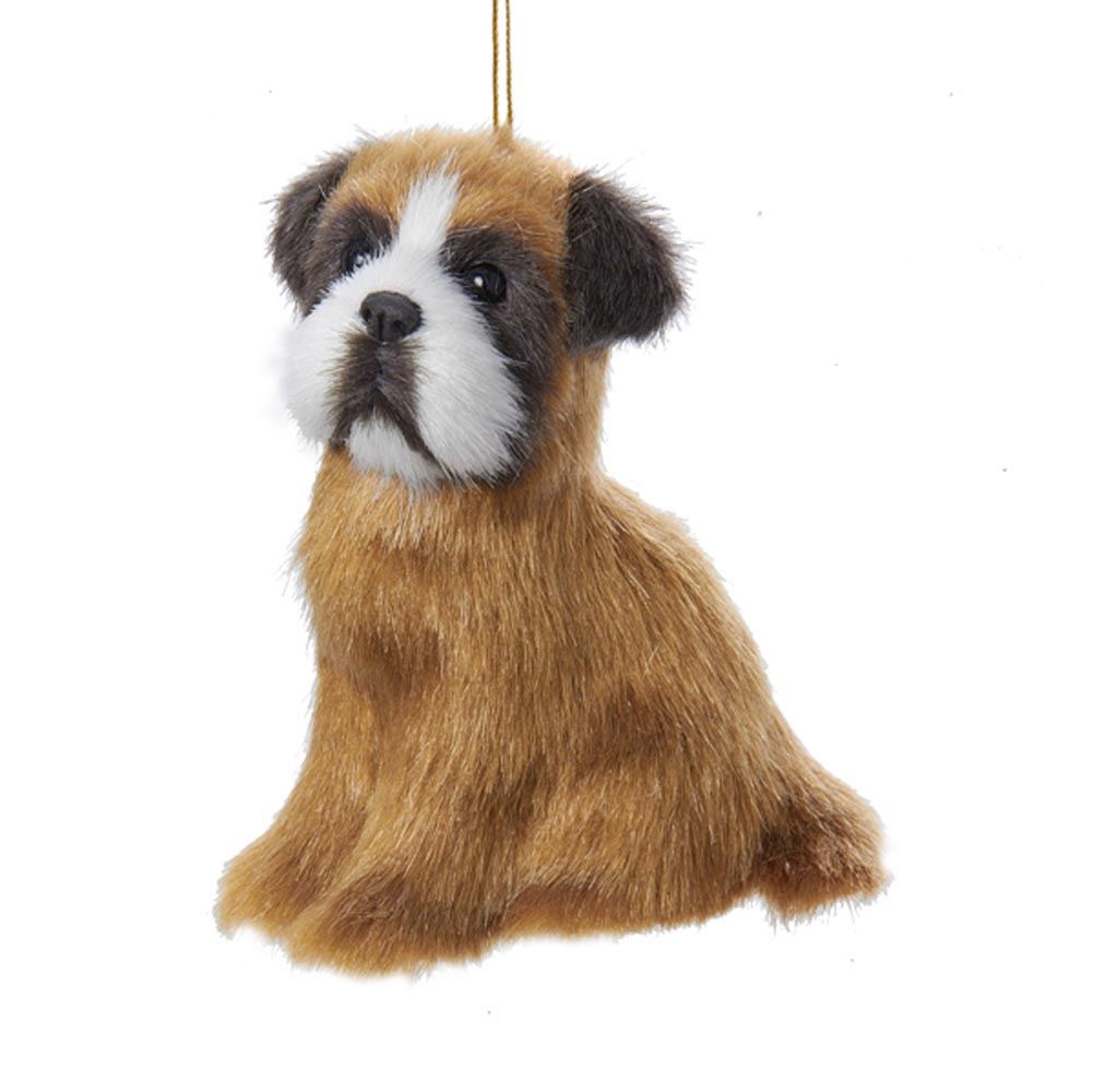 Boxer Plush Ornament 4 Inches