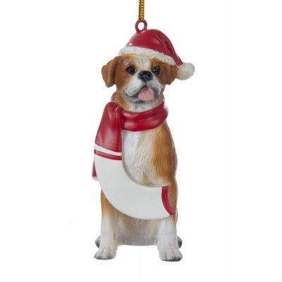 Boxer Resin Santa Ornament 3