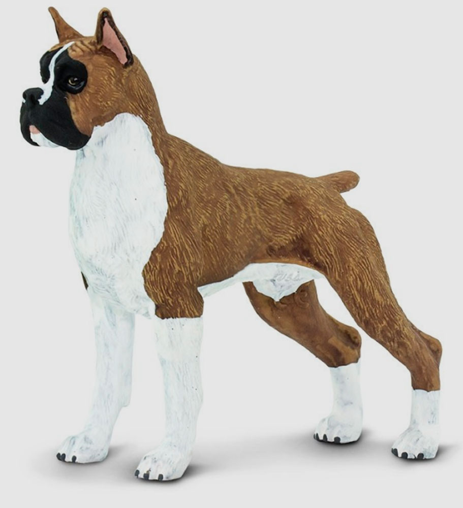 Boxer Dog Figurine Toy