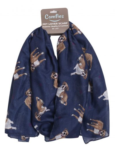 Boxer Scarf -Lightweight Cotton Polyester Uncropped