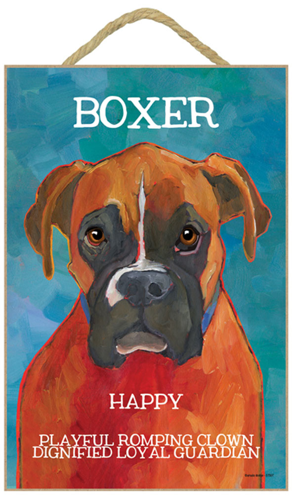 Boxer Characteristics Indoor Sign Uncropped