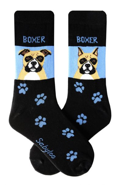Boxer Cropped & Uncropped Socks Blue and Black in Color