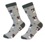 Boxer Face Pattern Socks Uncropped
