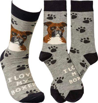 I Love My Boxer Socks By Kathy