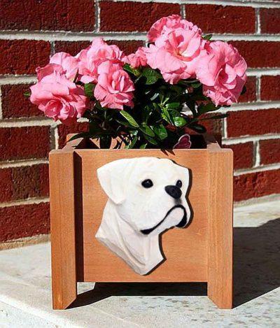 Boxer Planter Flower Pot White Uncropped 1