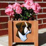 Boxer Planter Flower Pot Brindle Uncropped 1