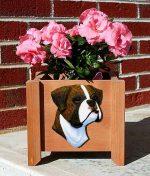 Boxer Planter Flower Pot Brindle Uncropped