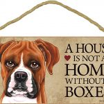 Boxer Uncro Wood Dog Sign Wall Plaque Photo Display A House Is Not A Home 5 x 10 + Bonus Coaster