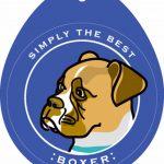 Boxer Sticker 4×4″ Tan Uncropped 1