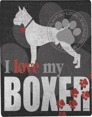 Boxer Polyester Dog Blanket Throw