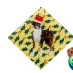 Boxer Dog Crystal Glass Holiday Christmas Ornament Uncropped 1