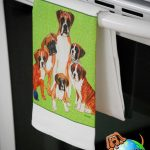 Boxer Dog Kitchen Hand Towel Uncropped 1
