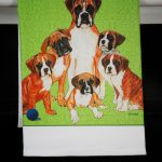 Boxer Dog Kitchen Hand Towel Uncropped 2