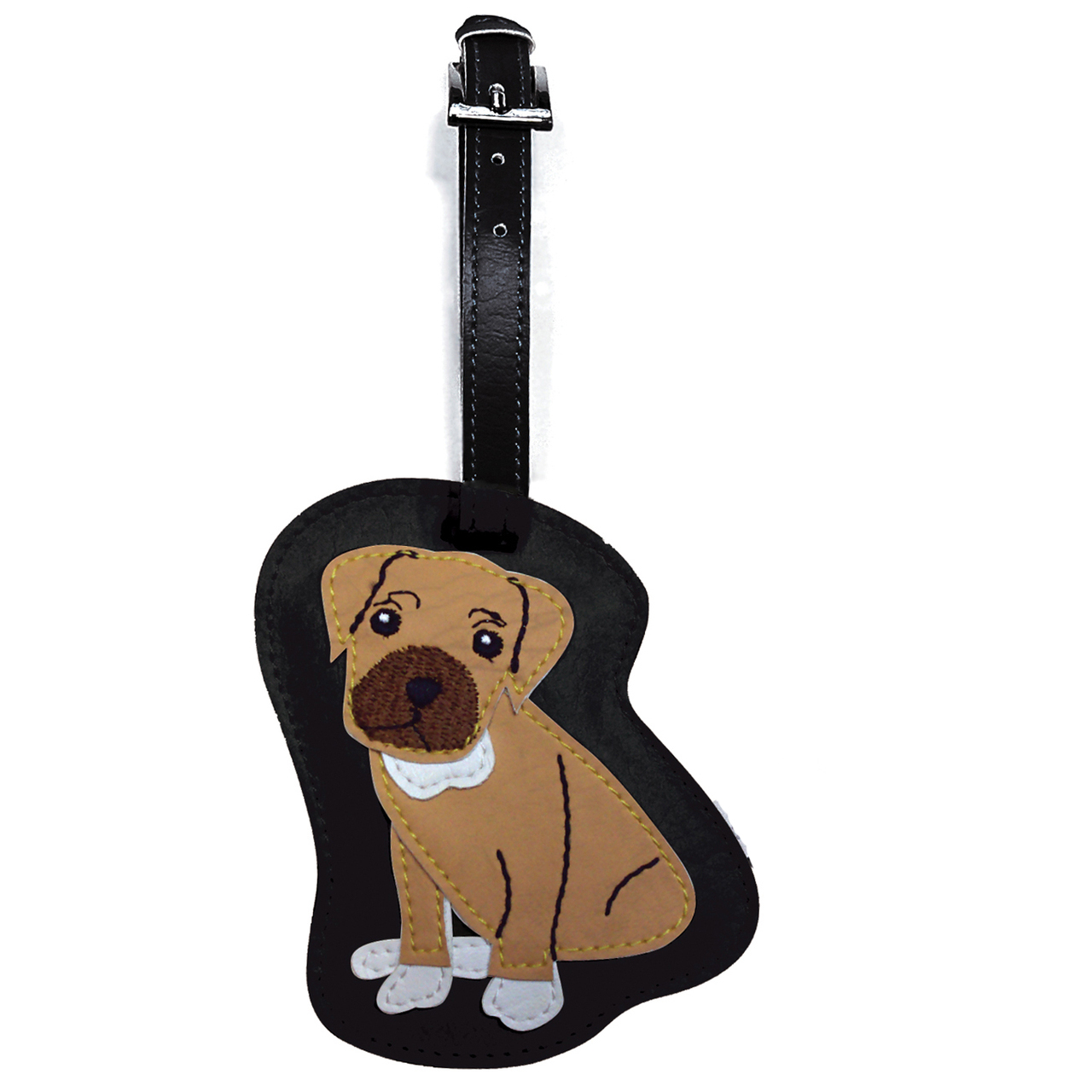 Boxer Dog Luggage Tag Briefcase Gym Backpack Travel ID Uncropped