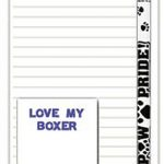 Boxer Dog Notepads To Do List Pad Pencil Gift Set 1