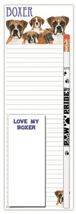 Boxer Dog Notepads To Do List Pad Pencil Gift Set
