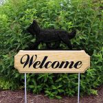 Briard Outdoor Welcome Yard Sign Black in Color