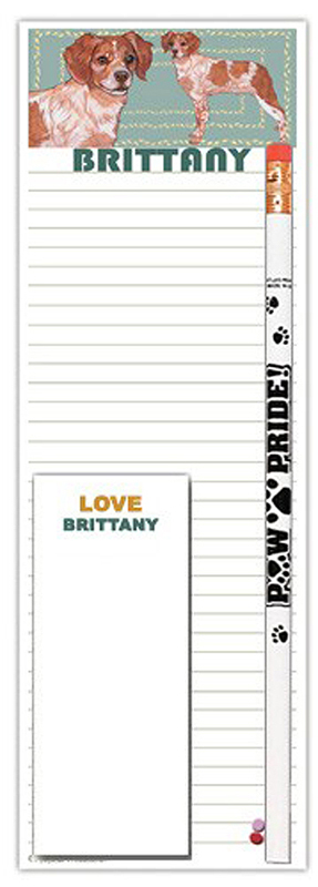 Brittany Dog Notepads To Do List Pad Pencil Gift Set
