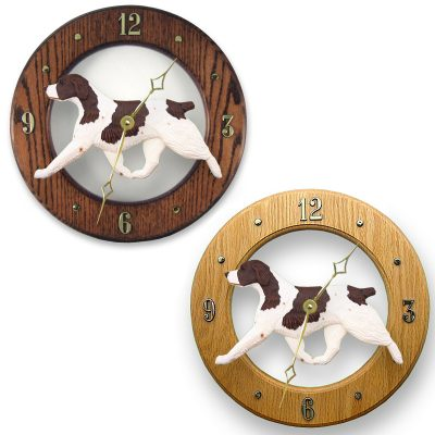 Brittany Liver Dog Wall Clock