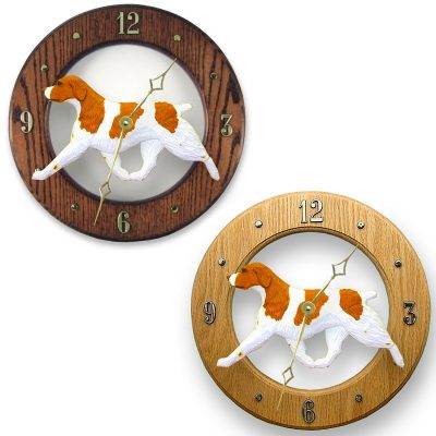 brittany_orange_dog_wall_clock
