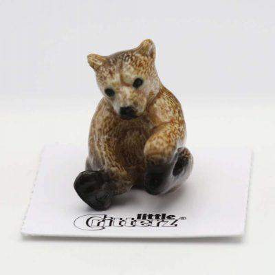 Brown Bear Porcelain Figurine